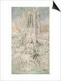 St. Barbara, 1437 (Grisaille) Prints by  Jan van Eyck