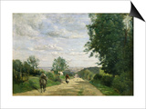The Road to Sevres, 1858-59 Posters by Jean-Baptiste-Camille Corot