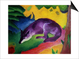 Blue Fox, 1911 Posters by Franz Marc