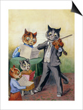 The Mewsical Family Prints by Louis Wain