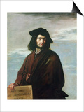 Self Portrait, c.1641 Prints by Salvator Rosa
