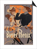 Poster Advertising Phenix Beer, C.1899 (Colour Litho) Prints by Adolfo Hohenstein