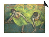 Two Dancers Relaxing Print by Edgar Degas