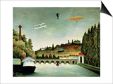 View of the Bridge at Sevres and the Hills at Clamart, St. Cloud and Bellevue, 1908 Prints by Henri Rousseau