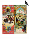 Posters Advertising Bull-Fights in Valladolid, 1896 and in Bayonne, 1897 Poster