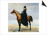 Equestrian Portrait of Mademoiselle Croizette, 1873 Art by Charles Émile Carolus-Duran