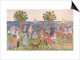 Promenade, 1914/15 Prints by Maurice Brazil Prendergast