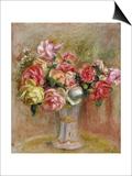 Roses in a Sevres Vase Print by Pierre-Auguste Renoir