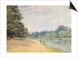The Thames with Hampton Church, 1874 Print by Alfred Sisley