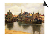 View of Delft, c.1660-61 Art by Jan Vermeer