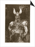 A Viking Chief Print by Carl Haag