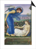 Cupid and Psyche, C.1865 (W/C, Bodycolour and Pastel on Paper Mounted on Linen) Prints by Edward Burne-Jones