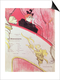 "Cover of a Programme for ""Le Missionaire"" at the Theatre Libre, 1893-94 Láminas por Henri de Toulouse-Lautrec"