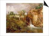 Mill at Gillingham, Dorset, 1825-26 Prints by John Constable