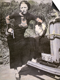 Bonnie Parker Posing Tough with a Gun and Cigar, c.1934 Posters