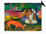 Arearea, 1892 Posters by Paul Gauguin