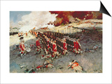 Battle of Bunker Hill, 17 June 1775 Print by Howard Pyle