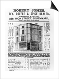 Advertisement for Robert Jones, Tea, Coffee and Spice Dealer, January 1845 (Litho) Posters by  English