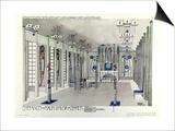 Design for a Music Room with Panels by Margaret Macdonald Mackintosh 1901 Prints by Charles Rennie Mackintosh