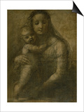 "Virgin and Child, Preparatory Cartoon for the ""Mackintosh Madonna"" Affiches par  Raphael"
