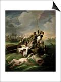 Watson and the Shark, 1782 Prints by John Singleton Copley