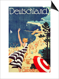 Deutschland: an Der Ostsee, C.1930 (Colour Lithograph Print by Richard Friese