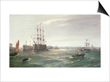 Portsmouth Harbour: HMS 'Victory' among the Hulks, 1892 Prints by Robert Ernest Roe
