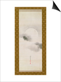 Hanging Scroll Depicting the Autumnal Moon, from a Triptych of the Three Seasons, Japanese Prints by Sakai Hoitsu