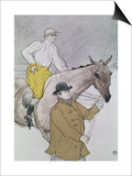 The Jockey Led to the Start Posters by Henri de Toulouse-Lautrec