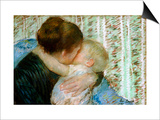 A Goodnight Hug Poster by Mary Cassatt
