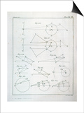 "Plate XX from Volume I of ""The Mathematical Principles of Natural Philosophy"" by Sir Isaac Newton Prints"