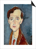 Portrait of Franz Hellens, 1919 Prints by Amedeo Modigliani