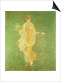 Spring, Maiden Gathering Flowers, from the Villa of Varano in Stabiae, c.15 BC-60 Ad Prints by  Roman