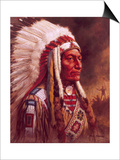 Indian Chief Prints by Frank Humphris