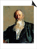 Portrait of Vladimir Stasov, 1883 Art by Ilya Efimovich Repin
