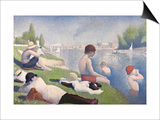 Bathers at Asnieres, 1884 Posters by Georges Seurat