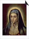 The Virgin Mary, c.1594-1604 Prints by  El Greco