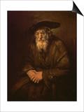 Portrait of an Old Jew Prints by  Rembrandt van Rijn