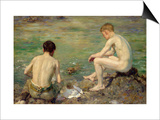 Three Companions Posters by Henry Scott Tuke