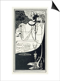 "J""Ai Baise Ta Bouche, Jokanaan, Illustration from ""Salome"" by Oscar Wilde, Pub. 1894 Poster by Aubrey Beardsley"
