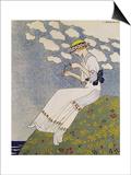 N'en Dites Rien, from the Gazette du Bon Ton No. 10, 1913 Prints by Georges Barbier
