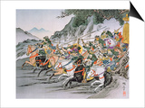 Battle of Shizugatake Pass 1583 Posters by  Japanese School
