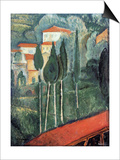 Landscape, South of France, 1919 Posters by Amedeo Modigliani