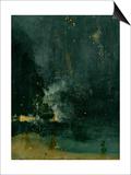 James Abbott McNeill Whistler - The Falling Rocket, 1875 (Oil on Panel) Reprodukce