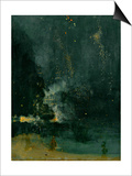 James Abbott McNeill Whistler - The Falling Rocket, 1875 (Oil on Panel) - Art Print
