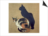 Two Cats, 1894 Print by Théophile Alexandre Steinlen