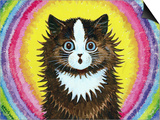 Cat in a Rainbow Art by Louis Wain