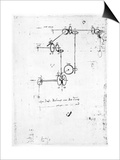 Machinery Designs Poster by  Leonardo da Vinci