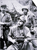 Fidel Castro in the Sierra Maestra Mountains, 1957 Posters