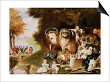The Peaceable Kingdom, 1832-34 (See also 84503) Poster by Edward Hicks